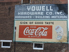 A SIGN OF GOOD TASTE (SneakinDeacon) Tags: sign cocacola culpeper hardwarestore yowells