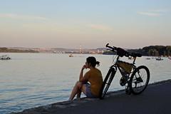 River inspiration/Reka inspiracije (salaminijo) Tags: outdoor river riverside girls bike lights sunset canon people eos mark 1d 50mm18 reka bicikl bajs devojka nature priroda svetlo ser bgd danube dunav napolju pause odmor chill