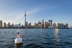Toronto Harbour (josullivan.59) Tags: wallpaper weather water 3exp evening travel toronto urban ontario outside august summer sunsetlight canon6d canada clear canonef24105mmf4lisusm blue skyline lakeontario 2016