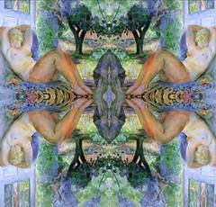 2016-08-16 symmetrical nude paintings 2 (april-mo) Tags: symmetry symmetrical mirror collage nu nude art painting experimentaltechnique woman womanportrait