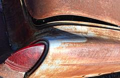 (shadowplay) Tags: taillight plexiglass rust corrosion oxidation abandoned junkyard