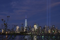 15th anniversary of 9/11 (september 11, 2016) (norlandcruz74) Tags: 15yearsafter 15years remembrance tributeinlights one sky night slowshutterspeed longexposure afs focallength prime fixed 35mm d5100 dx nikon pilipino filam filipino pinoy norlandcruz newyorkcity newyork nyc ny downtown manhattan lights pillars blue tower freedom worldtradecenter wtc 2016 september 911