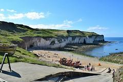 North landing, Flamborough Head (Joe's Jollies) Tags: dadsarmy movie flamborough 2016 beach chalk cliffs seaside coastal eastyorkshire sea