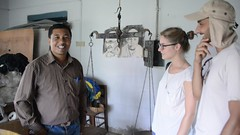 Chief Instructor Interview (www.WeAreHum.org) Tags: textile nepal thread bobbins gandhi tulsi ashram school for women kathmandu sowing weaving winds threads mechanical loom wood shuttles feet arts