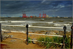 Blustery day at New Brighton, Wirral UK  20th August 2016 (Cassini2008) Tags: newbrighton wirral rivermersey liverpooltwo blustery