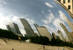 Skyline in the Cloud Gate (jglsongs) Tags: chicago illinois millenniumpark cloudgate bean thebean