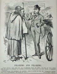 Pilgrims and Pilgrims! -  Punch 1873 (AndyBrii) Tags: punch 1973 wit satire woodcuts engravings