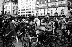 We Ride Together: Mass Bike Ride to Demand Safe Passage for Cyclists & Pedestrians (triebensee) Tags: canon canonet ql17 40mm f17 fujifilmneopanacros100 ilfordddx 14 pushed 200 film epsonv700 crashnotaccident fixourstreets transportationalternatives sept15 ridetogether visionzeronyc
