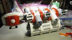 SHIPtember 2016 WIP -20c (DJ Quest) Tags: lego shiptember space ship spaceship moc wip midsection cargo attachment pod