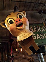 Antique Archaeology (Dave* Seven One) Tags: antiquearchaeology americanpickers historychannel nashville tn treasure treasures trinkets stuff antiques antique strange creepy cool pig pigcostume kissme kissmeyoufool porky porkypig marathonautomobiles