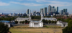Greenwich and the Isle of Dogs (Edward.Turner) Tags: london greenwich city england uk summer hill panorama skyline canon50d canon 50d 24105 24105l