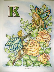 Roses (Lynne M. B.) Tags: coloringadults coloring coloringbook coloredpencils drawing art illustration prismacolor flowerandfairyalphabet roses darcymay