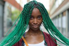 Pretty Green (Stuart Mac) Tags: beauty woman green pose portrait lfw eyes lips hair colour look street 50mm d750 dof