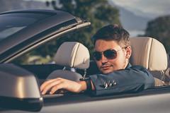 player II (stefanpaetzold) Tags: car watch apple sunglasses sonnenbrille uhr auto cabrio junge mann man boy sun light sonne licht silber silver anzug suit
