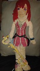 Kairi ready for the keyblade war ahead (ninjagirlsakura1) Tags: kingdomhearts kairi doll kairidoll