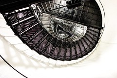 spiral stair to the top of hunting island lighthouse (AgFineArtPhotography.com) Tags: spiral stair tothe top huntingisland lighthouse safety stairwell walk hard black iron wroght historic restored building structure architecture sc southcarolina leading lines round circle circular oval smooth