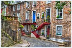 Ramsey Lane (jbarc in BC) Tags: edinburgh scotland uk street lane stairs bricks hdr cobblestone brick