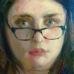 Close up from a Portrait Demo at the Delaware Art Museum... (Dorian Vallejo) Tags: art fine drawing figure mixed media drawings oil painting dorian vallejo