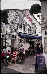 The Singapura Club (waex99) Tags: 2016 800iso epson fuji leicaiiic singapore film v500 xtra club singapura haji lane arab street bar pub jupiter 12 35mmf28 russian ltm leica iiic