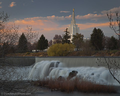Someday never comes (Dave Arnold Photo) Tags: city usa church water river temple town us photo waterfall image id picture pic falls idaho photograph snakeriver electricity smalltown idahofalls hydroelectric mormontemple waterinmotion davearnold bonnevillecounty darnold davearnoldphotocom bonnevilleco