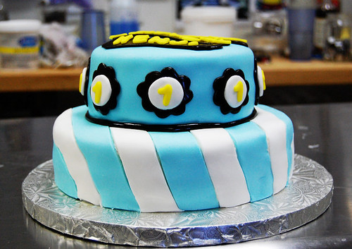 Tremendous Baby Boy 1St Birthday Cake A Photo On Flickriver Birthday Cards Printable Trancafe Filternl