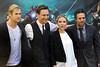 Chris Hemsworth, Tom Hiddleston, Scarlett Johansson and Mark Ruffalo Stars of the new movie 'The Avengers' attend a photocall in Rome Rome, Italy