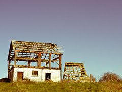 Barn in Pieces (robert_goulet) Tags: old ontario canada look barn rural lumix pieces feel olympus april nostalgic torn 28 milton zuiko agricultural 2012 apart yesteryear disassembled halton zd gh2 1454mm panaasonic mikecrough