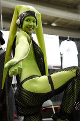 Oola the Slave (_Codename_) Tags: green calgary starwars costume expo cosplay dancer alberta comicon slave 2012 twilek comicentertainment