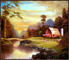 OLD_ BARN (DMel3) Tags: seascape mountains art painting landscape landscapes artwork seascapes fineart paintings bridges canvas rivers oilpaintings forests snowscenes