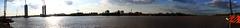 Bordeaux, entre deux ponts (Jonathan VINDIOLET) Tags: panorama france canon eos cub bordeaux rivière le pont garonne fleuve levant aquitaine gironde daquitaine 1100d bacalanbastide canoneos1100d pontjacqueschabandelmas