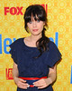 Zooey Deschanel (Jess), at the 'New Girl' academy screening at the Leonard H. Goldenson Theatre in North Hollywood. Los Angeles, California