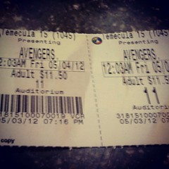 Best. Movie. Ever. (kaecub) Tags: movie tickets cool theater awesome best lovely premier avengers