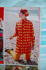 Checkered coat (<Vicky's Flicks>) Tags: fashion vintage 60s retro 1967 1960s magazines sixties seventeen
