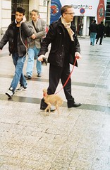 Champs Elysees, by J L Sinclair (Jelausin) Tags: street dog paris slr 35mm photography spring minolta champs documentary elysees