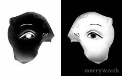 Eyes (merrywrath too) Tags: white black eye face statue eyes negative anatomy infrared positive inverse