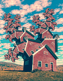 LARRY CARLSON, Red School House, digital photography, 2010.