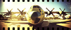 Airplanes on film: Lomography Sprocket Rocket (kevin dooley) Tags: arizona color green film museum analog 35mm airplane nose us lomo xpro lomography crossprocessed colorful unitedstates tucson space air az cargo pima rocket airforce propeller sprockets doublewide pimaairandspacemuseum sprocketrocket