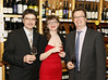 Owners Jo�l Durand and Katia Compagnoni with Paul Maguire at the opening of Blackrock Cellar in Blackrock village