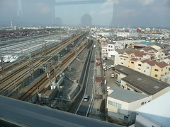 Here come the shinkansens (seikinsou) Tags: bridge japan train rail railway osaka monorail shinkansen align