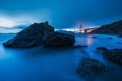 The Golden Gate Bridge from Marshall Beach (kern.justin) Tags: sanfrancisco california bridge sunset beach photography golden twilight sand nikon gate marshall pacificocean goldengatebri
