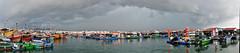 Storm (alissa petrelli) Tags: ocean china sea sky fish storm rain clouds boats bay darkclouds xincun floatingfishingvillage