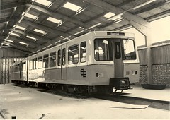 Prototype Tyne & Wear Metrocar at the Test Track after delivery (colin9007) Tags: test track metro engine tyne wear lane middle metropolitan supertram cammell metrocar