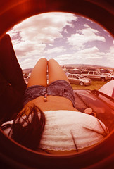 (Alex Lianopoulos) Tags: camping light sky urban music fish eye love film me festival drunk happy casey tents couple angle crowd group grain wide american alcohol indie scanned mm leak 35 tipsy apparel sasquatch