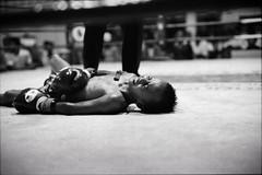 FACE OF THE GAME (Sakulchai Sikitikul) Tags: bw film zeiss thailand 50mm kid kodak bessa 15 200 boxer boxing muaythai sonnar r2a