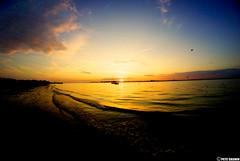 Sunset on the Bay (Cashinthebank) Tags: nyc sunset usa newyork bay fisheye hdr jamaicabay breezypoint rockawaybeach