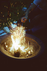 (voldy92) Tags: light night fire flames nighttime sparks