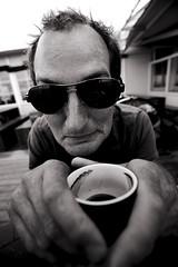 Bram. Caf connaisseur et drle (Pim Geerts) Tags: portrait caf terschelling bram den van portret hurk oerol connaisseur