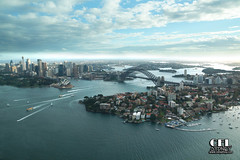 Sydney Harbour (celsydney) Tags: sea sky water plane harbour sydney areal operahouse harbourbridge seaplane sydneyharbour