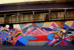 Marcelo Eco - Cais do Porto (DanielRocha021) Tags: pink blue brazil urban white film colors june branco azul brasil riodejaneiro analog ink canon cores iso100 analgica rj arte rosa graffitti urbano filme 2012 junho canoneosrebelg