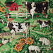 Vintage curtains - farm scene